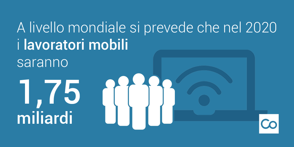 nel 2020 i lavoratori mobili saranno 1,75 miliardi